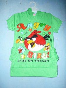 Baju Anak Grosir Model Angry Birds - Hijau