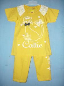 baju setelan anak -kuning